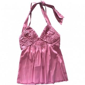 BCBGMAXAZRIA Pink Cotton Top for Women