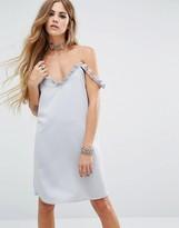 Motel Pancha Cold Shoulder Cami Ruffle Dress