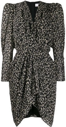 IRO Asymmetric Floral Mini Dress
