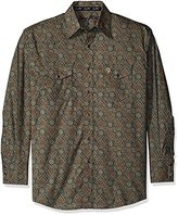 Wrangler Men's Big and Tall George Strait Two Pocket Long Sleeve Snap Woven Shirt