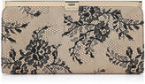 Jimmy Choo CAMILLE Black Lace on Glitter Clutch Bag