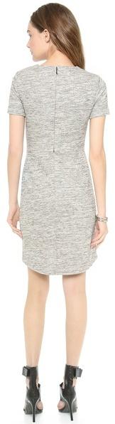 Tibi Spring Tweed Gathered Dress