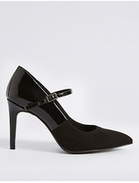 M&S Collection Wide Fit Stiletto Court Shoes