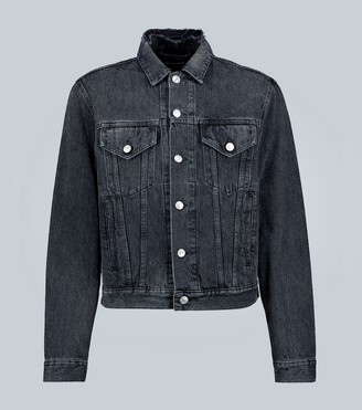 Balenciaga Slim-fit logo denim jacket