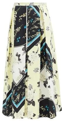 Erdem Elena Rosemont Willow-print Cotton Skirt - Yellow Print
