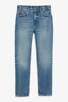 Thumbnail for your product : Monki Kimomo washed blue jeans