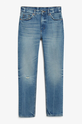 Monki Kimomo washed blue jeans