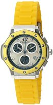 Stuhrling Original Women's 180R.1116G95 Special Reserve Apocalypse Cosmo Girl Date Chronograph Stainless Steel Watch with Yellow Rubber Strap