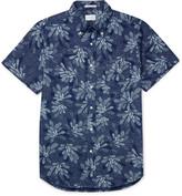 Gant Rugger - Slim-fit Printed Button-down Collar Cotton Shirt