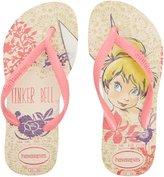Havaianas Slim Tinkerbell Youth US 11 Pink Flip Flop Sandal EU 29