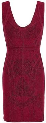 Herve Leger Metallic Bandage-jacquard Mini Dress