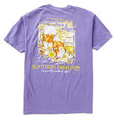 Southern Fried Cotton Mens Sweet Tea Graphic Pocket Tee