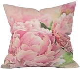 DENY Designs Peonies Throw Pillow