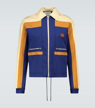 Gucci Technical jersey zipped-up jacket