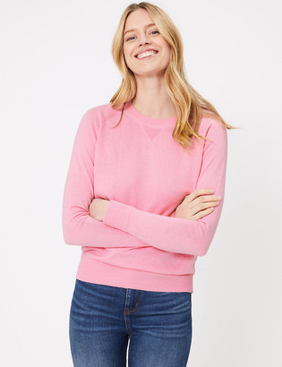 Marks and Spencer Cotton Long Sleeve Jumper with Cashmere