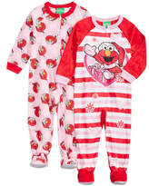 Sesame Street 2-Pk. Elmo Footed Coveralls, Toddler Girls (2T-5T)