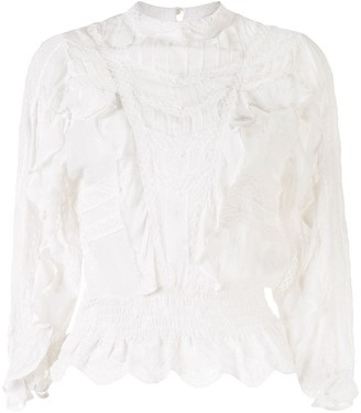 IRO Orrie ruffle trimmed blouse