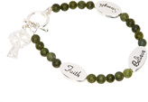 Silvertone Connemara Marble 'Faith' Bracelet