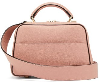 Valextra Serie S Small Grained-leather Bag - Light Pink