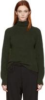 Haider Ackermann Green Rib Knit Turtleneck
