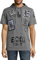 Ecko Unlimited Unltd Short Sleeve Jersey Patchwork Hoodie