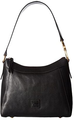 Dooney & Bourke Florentine Classic Large Cassidy Hobo (Black/Self Trim) Hobo Handbags