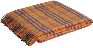 BURBERRY KIDS Check Cashmere Baby Blanket