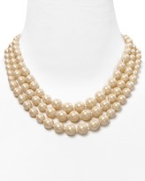 Carolee Triple Row Pearl Necklace, 36""