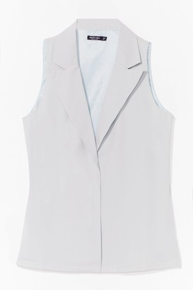 Nasty Gal Womens Work Hard Relaxed Tailored Vest - Green - 6, Green