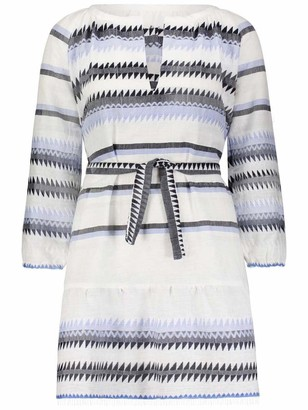 Lemlem Aster Blouse Dress in Steel Blue - XS.