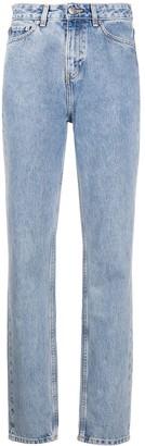 Ganni Washed Straight-Leg Jeans