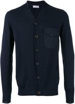 Brunello Cucinelli single breasted cardigan - men - Cotton/Polyamide/Spandex/Elastane - 48