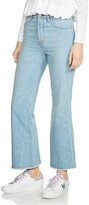 Maje Prudy Cropped Flare Jeans in Blue