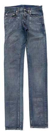 Christian Dior 2008 Metallic Waxed Skinny Jeans