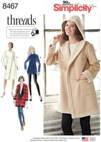 Simplicity Women's Coat or Jacket with Neckline Variations Sewing Pattern, 8467