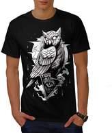 Illuminati Owl Bird Men XXXL T-shirt | Wellcoda