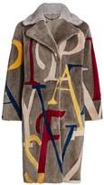 The Fur Salon Letters Shearling & Mink Fur-Collar Coat