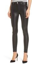 Hudson Women's Barbara High Waist Ankle Skinny Leather Pants
