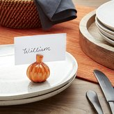 Crate & Barrel Pumpkin Place Card Holder