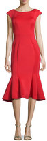 Jovani Midi Drop-Waist Cocktail Dress, Red