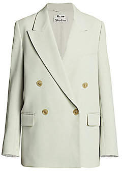 Acne Studios Women's Janny Light Summer Wool-Blend Suit Jacket
