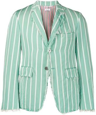 Thom Browne striped distressed blazer