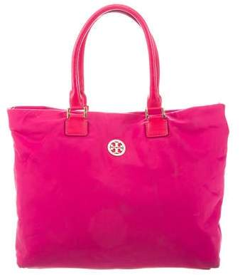Tory Burch Leather-Trim Nylon Tote
