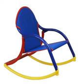 Hoohobbers Personalized Kids Rocking Chair in Blue Mesh