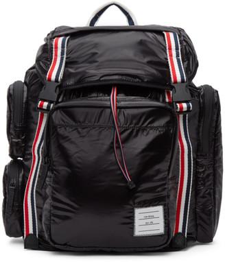 Thom Browne Black Ripstop Tricolor Webbing Backpack