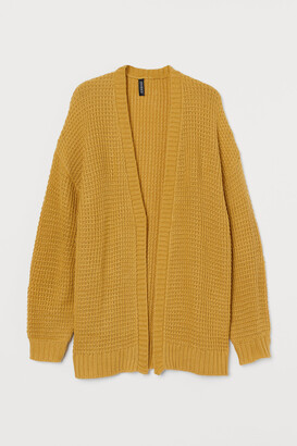 H&M Textured-knit Cardigan