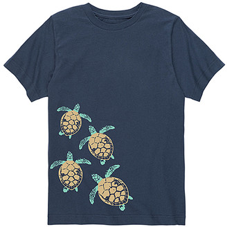 Instant Message Tee Shirts NAVY - Navy Baby Turtle Trail Tee - Toddler & Kids