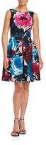 Taylor Floral Fit-and-Flare Dress