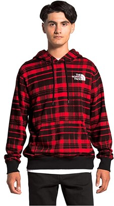 The North Face Holiday Printed Hoodie (TNF Red Holiday 2 Plaid Print) Clothing