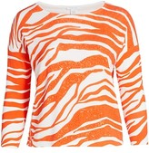 Thumbnail for your product : Joan Vass, Plus Size Sequin Animal Sweater